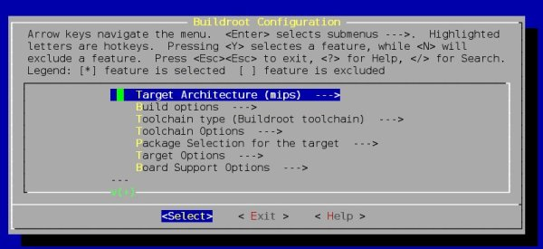 screenchot_config_buildroot1